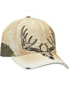 Ariat Men's Tan Deer Skull Ballcap