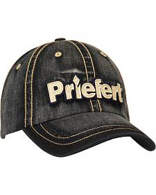 Priefert Faded Black Denim Casual Cap