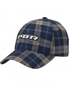 PBR Navy Blue Plaid Logo Casual Cap