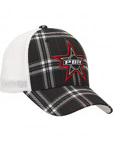 PBR Plaid Embroidered Logo Patch Flex Fit Casual Cap