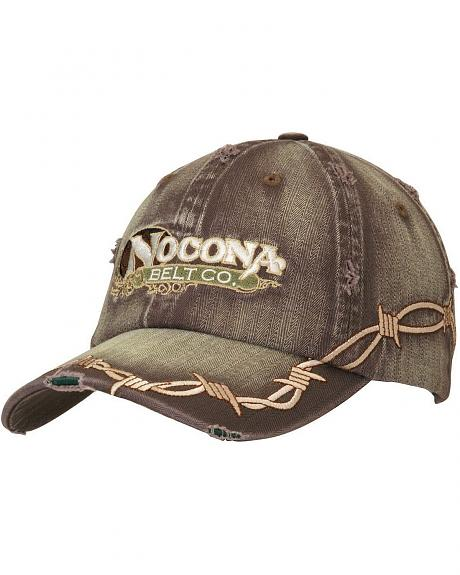 Nocona Barbed Wire Embroidered Cap