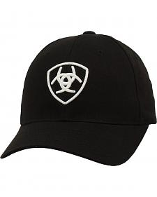 Ariat Black and White Logo Ballcap