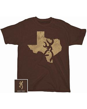 Browning Distressed Texas Screen Print T-Shirt