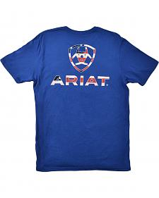 Ariat Stars & Stripes Logo Blue T-Shirt