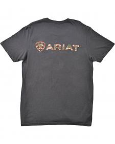 Ariat Camouflage Logo Charcoal T-Shirt