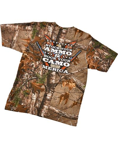 "Merica ""Stock Your Ammo & Rock Your Camo"" T-Shirt Western & Country 1451"