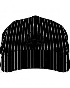 Cinch Black and White Pinstripe Cap