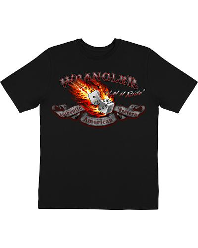 "Wrangler ""Let It Ride"" T-Shirt Western & Country MQ7612X"
