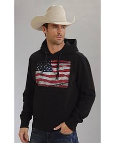 Roper Americana Collection American Flag Hooded Sweatshirt