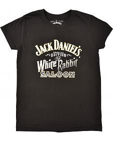 Jack Daniel's Women's White Rabbit Saloon T-Shirt