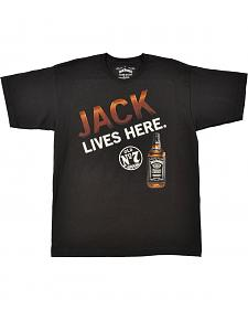 "Jack Daniel's Men's ""Jack Lives Here"" Black T-Shirt"