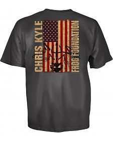 Chris Kyle Frog Foundation Epic Flag Frog Charcoal T-Shirt