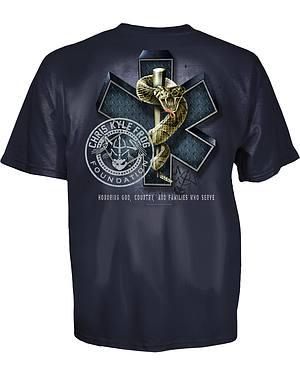 Chris Kyle EMS Frog Shield Blue T-Shirt