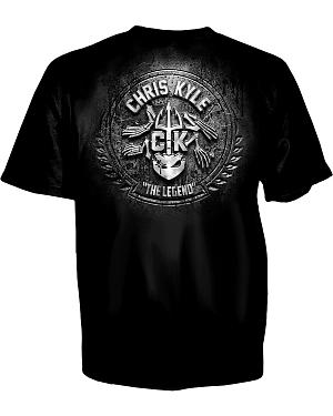 "Chris Kyle ""Stone and Steel"" Black T-Shirt"