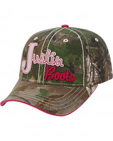 Justin Women's Pink and Camo Cap