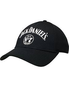 Jack Daniel's Men's Black Logo Waffle Cap