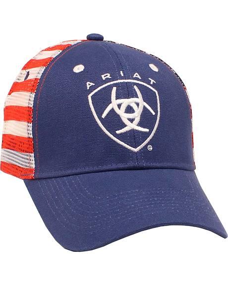 Ariat Men's American Flag Logo Cap