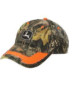 John Deere Twill Camouflage Orange Trim Cap
