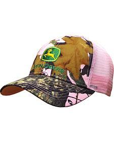 John Deere Women's Mossy Oak Pink Mesh Back Cap