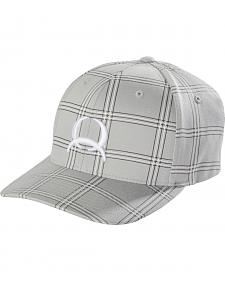 Cinch Men's Grey Plaid Flex Fit Cap