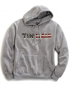Tin Haul Men's American Flag Logo Applique Pullover Hoodie
