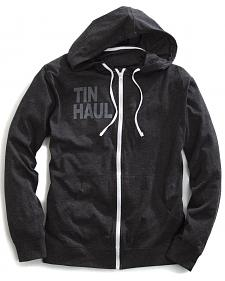 Tin Haul Men's Screen Print Stripe Zip-Up Hoodie
