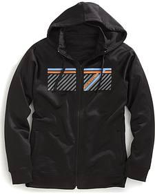 Tin Haul Men's Striped Logo Zip-Up Hoodie