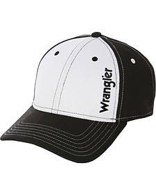 Wrangler Black and White Logo Cap