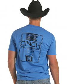 Cinch Men's Short Sleeve Light Blue T-Shirt