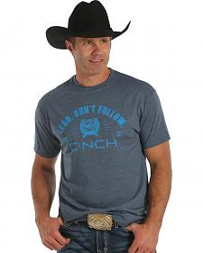 Cinch Men's Short Sleeve Navy Blue T-Shirt