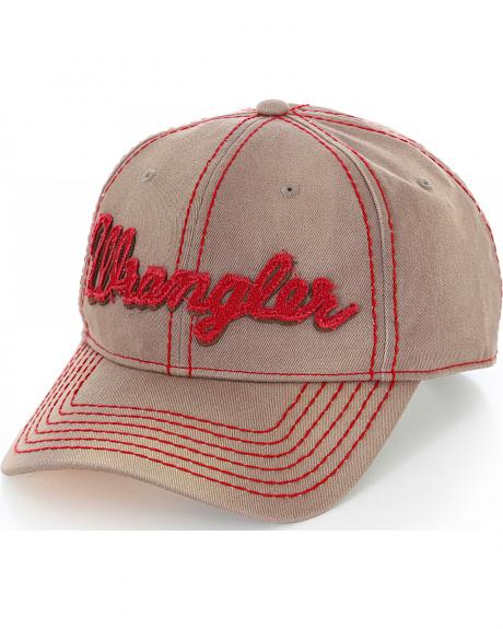 Wrangler Brown and Red Logo Cap