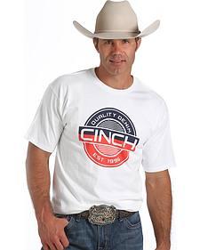Cinch Men's White Logo T-Shirt