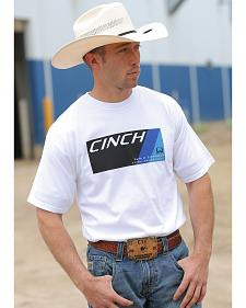Cinch Men's White Logo T-Shirt