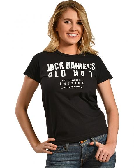 Jack Daniel's Women's Crafted in America Short Sleeve T-Shirt