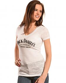 Jack Daniel's Women's Burnout V-Neck T-Shirt