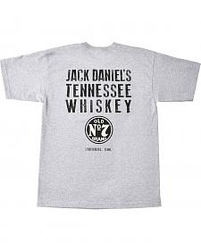 Jack Daniel's Men's Grey Whiskey Short Sleeve T-Shirt
