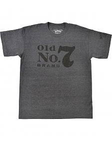 Jack Daniel's Men's Charcoal Old No. 7 Short Sleeve T-Shirt