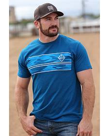 Cinch Men's Blue Logo Screen Print T-Shirt