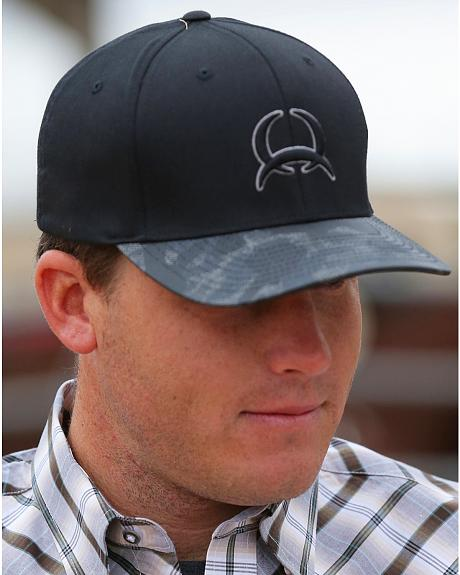 Cinch Grey Men's Black Flexfit Logo Cap