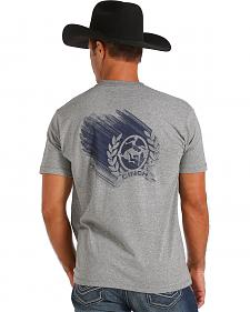 Cinch Men's Grey Logo Screen Print T-Shirt