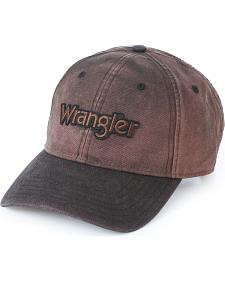 Wrangler Men's Distressed Brown Logo Cap