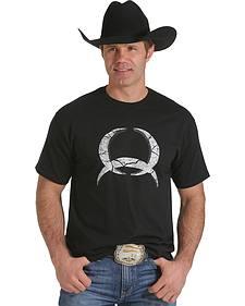 Cinch Men's Black Concrete Logo T-Shirt
