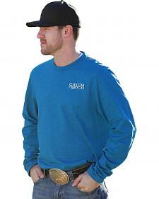 Cinch Men's Blue Long Sleeve Logo T-Shirt