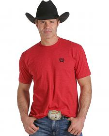 Cinch Men's Red Logo Screen Print T-Shirt