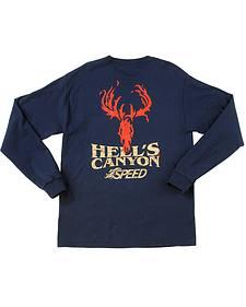 Browning Men's Navy Hells' Canyon Speed Long Sleeve T-Shirt