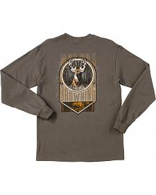 Browning Men's Charcoal Grey Best There Is Long Sleeve T-Shirt