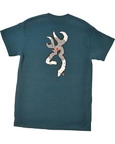 Browning Men's Navy Paper Target Buckmark T-Shirt