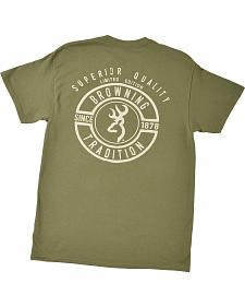 Browning Men's Green Superior Quality Buckmark T-Shirt