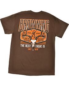 "Browning Men's Brown ""Premium Tradition"" Skull T-Shirt"