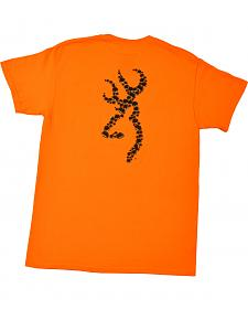 Browning Men's Orange Bullet Holes Buckmark T-Shirt